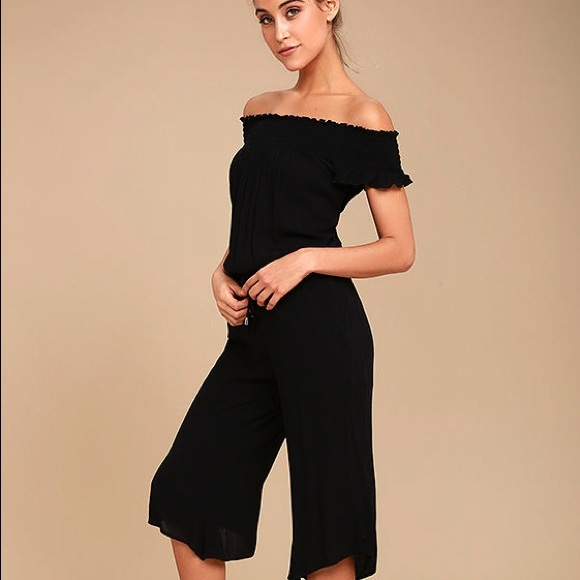 Jack By Bb Dakota Dresses Black Shoulderless Jumpsuit Poshmark
